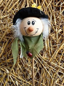 Straw, Straw Effigy, Head, Face, Eyes, Craft, Cereals