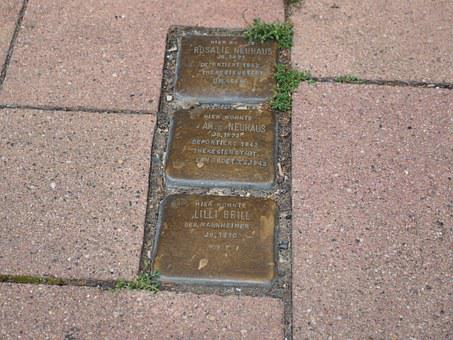Stumbling Blocks, Memorial Plaque, Stone, Commemorate
