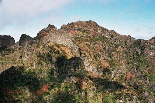 Madeira, Summit, Hiking, Sky, High, 2000m, Trail