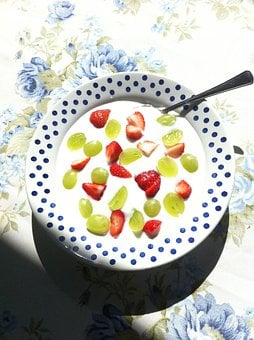 Summer, Garden, Sunshine, Polka Dot, Plate, Green, Red