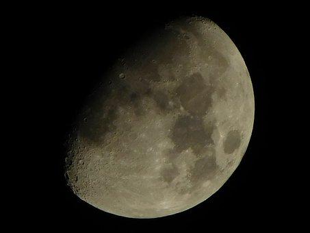 Moon, Night, Space, Sky, Nature, Solar, Telescope