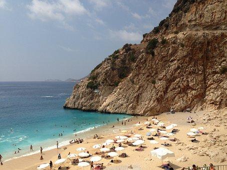 Turkey, Seaside, Kalkan, Beach, Holidays, Vacation