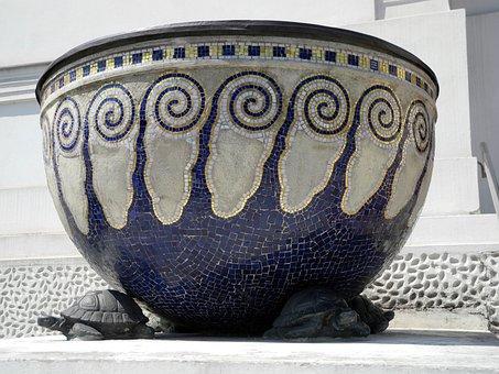 Stone Bowl, Vienna Secession, Art Nouveau, Pattern