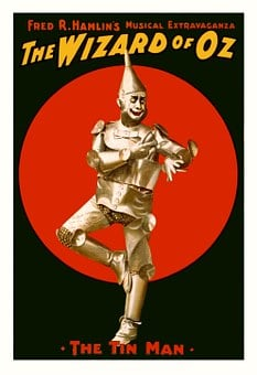 Wizard Of Oz, Poster, Tin Man, Characters, Vintage