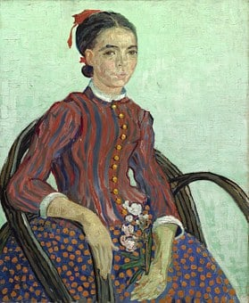 Van Gogh, Vincent, La Mousme, Vintage, Painting, Woman