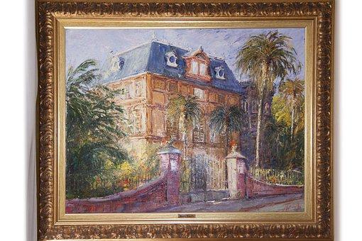 Villa Nobel, Sanremo, Alfred Nobel, Art, Oil Painting