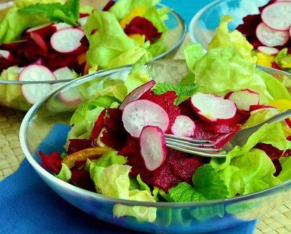 Salad, Lettuce, Mixed Salad, Beetroot, Radishes