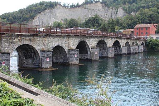 Bridge Azzone Visconti, Bridge, Arches, River, Lecco