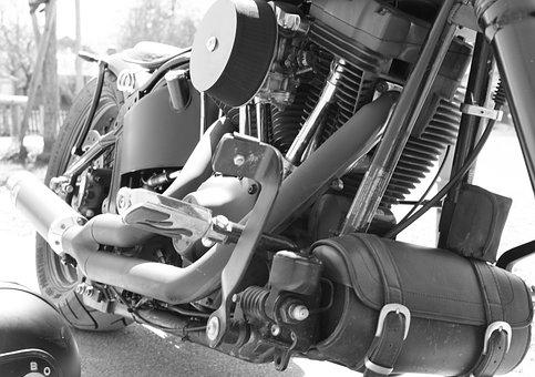 Motor, Chassis, Harley, Harley Davidson, Motorcycle