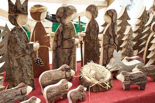 Pine Wood, Figures, Christmas Crib Figures