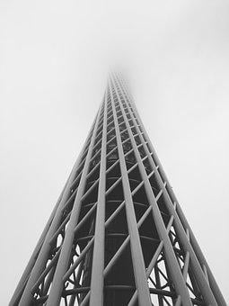 Guangzhou Guangdong, Canton Tower, Fog