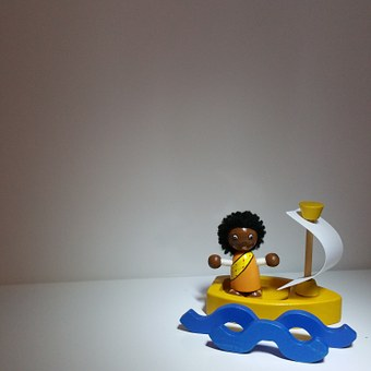 Toys, Sailing Boat, Sail, Holiday, Greeting Card