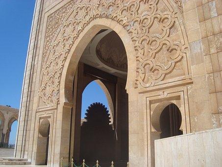 Mosque, Casablanca, Morocco, Africa, Hassan Ii