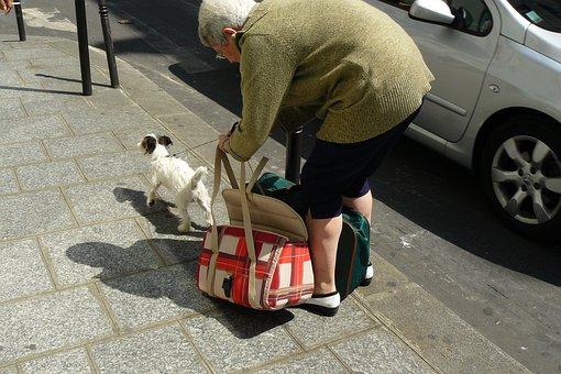 Woman, Human, Pavement, Concrete Slabs, Sidewalk Bag