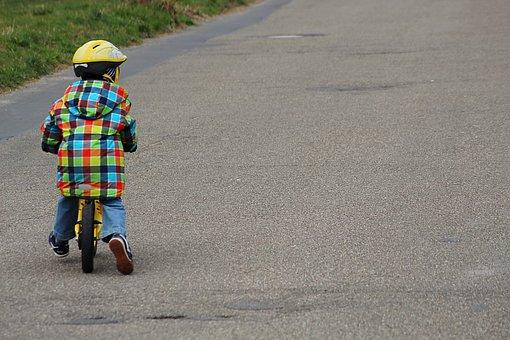 Child, Impeller, Road, Exercise