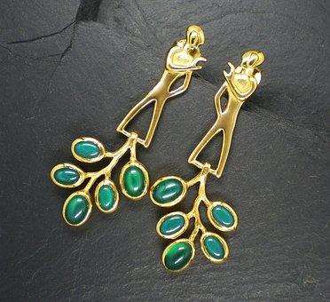 Gems, Jewellery, Taken, Gold, Gold Version, Earrings
