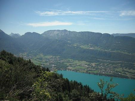 Annecy, Paragliding, Lake, The Forclaz Pass