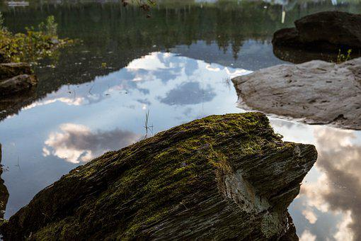 Flims, Graubünden, Switzerland, Caumasee, Stone, Lake