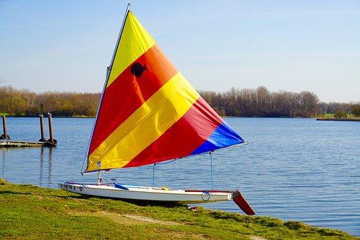 Boat, Sail, Sail Boat, Lake, Blue, Water, Recreation