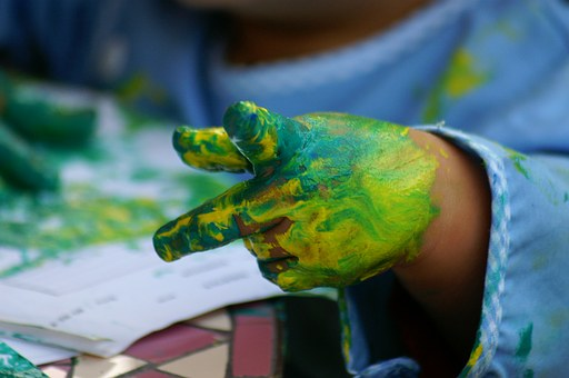 Painting, Hands, Children, Mother And Child
