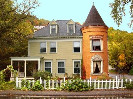 New England, Vermont, Colonial, House, Fall, Historic