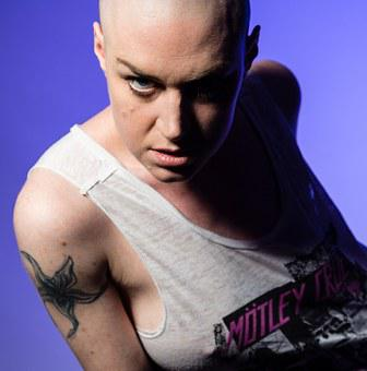 Rock Chick, Music, Woman, Bald, Rock, Female, Performer