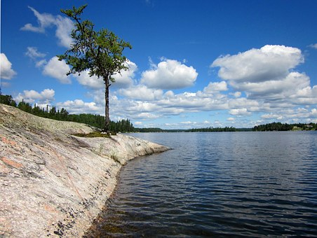 Canadian Shield, Lake Of The Woods, Rock, Precambrian