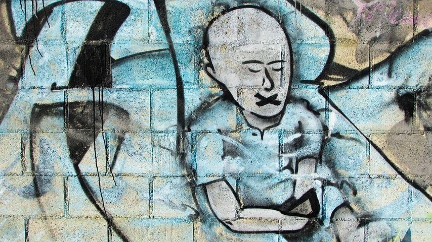 Censorship, Oppression, Silence, Victim, Graffiti