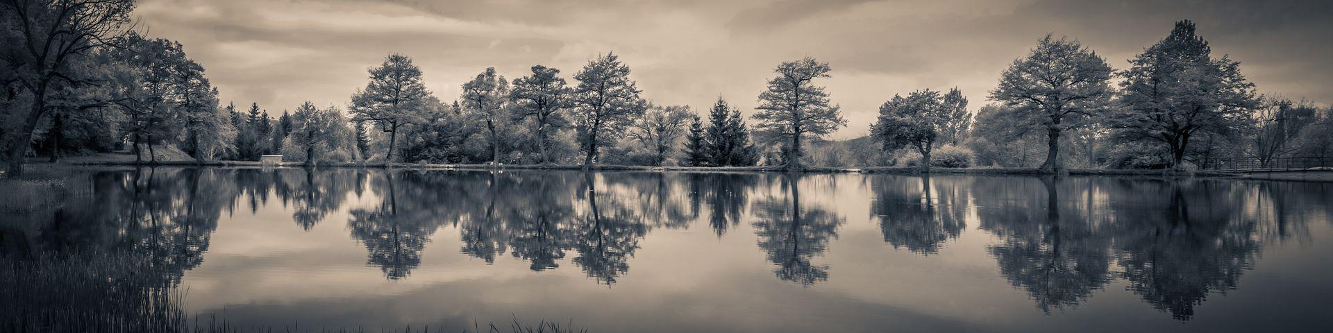 Panorama, Landscape, Reflection, Lake, Nature, Water