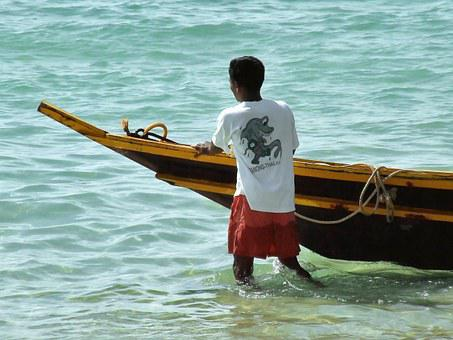 Thai, Fishing, Boat, Person, Boy, Male, Thailand, Asia