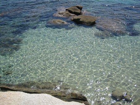 Sardinia, Beach, Crystal Clear Waters, Clear, Sea