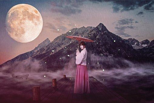 China, Antiquity, Beautiful, Color Mixing, Woman, Asia