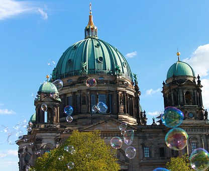 Berlin Cathedral, Cathedral Dome, Sky, Blue, Berlin