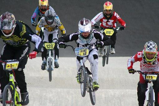 Bmx, Race, Group, Competition, Sport, Bike, Bicycle