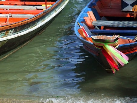 Thai, Fishing, Boats, Boat, Traditional, Longtail