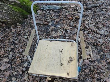 Old, Chair, Forest, Camp, Forget, Rust, Scrap, Lapsed