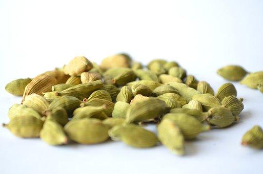 Cardamom, Elaichi, Green, Processed, Spice, Condiment