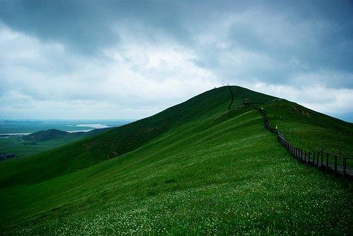 Ruoergai, Flower Lake, Peak, Cloudy Day, Dark Clouds