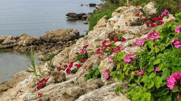 Cyprus, Protaras, Crystal Springs, Beach, Rocks