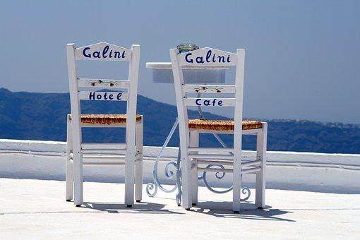 Santorini, Island, Greece, Cyclades, View, Tourism