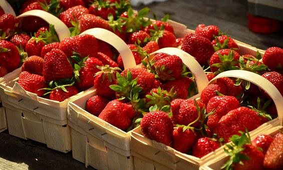 Strawberries, Red, Fruits, Delicious, Sweet, Summer