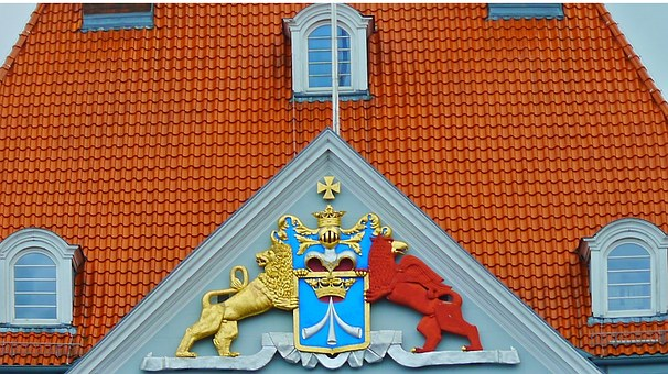 Coat Of Arms, Home, Building, Facade, Historically