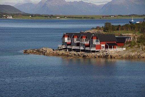 Lofoten, Nordland, Country House On The Lofoten, Norway