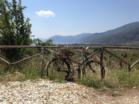 Bicycle, Rusty, Fence, Nature, Aged, Antique