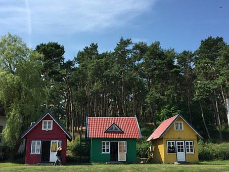 Lithuania, Nida, Baltic, Architecture, Wooden, Summer
