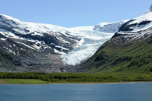 Nature, Glacier, Sea, Snow, Landscape, Norway, Fjord