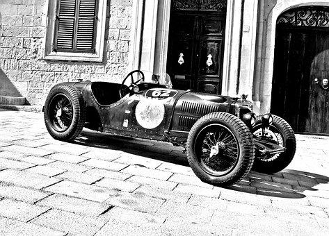 Vintage Racing Car, Classic Racing Car, Old Racing Car