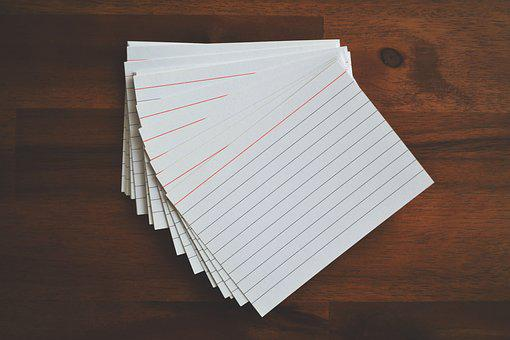 Flashcards, Cards, Paper