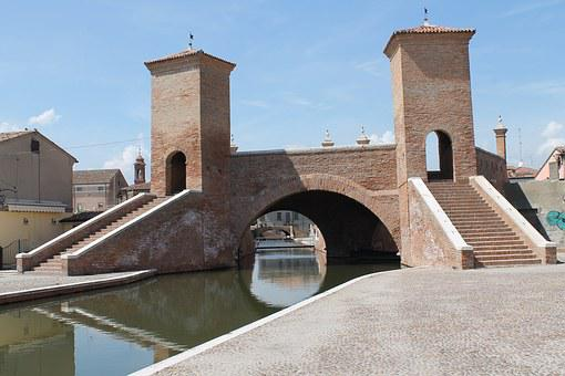 Italy, Trepponti, Bridge, Channel, Lagoon, Picturesque