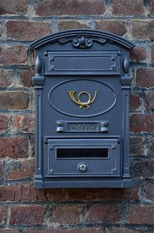 Mailbox, Post, Post Horn, Letter Boxes